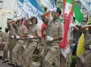 横浜地区伝統のフラッグチーム