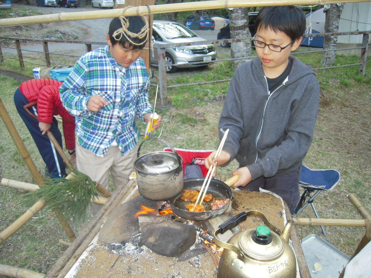 【ボーイ】春キャンプ@神ノ川ヒュッテ