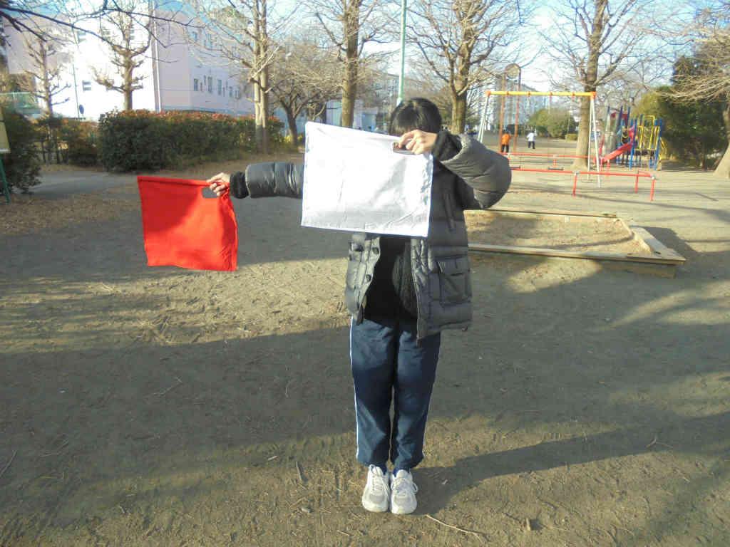 【カブ】月の輪班集会(手旗訓練)